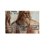 Music and Plato Rectangle Magnet