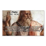 Music and Plato Rectangle Sticker