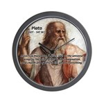 Music and Plato Wall Clock