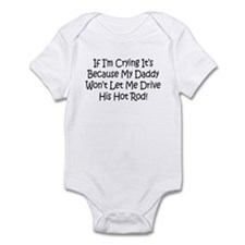Drive My Daddys Hot Rod Infant Bodysuit