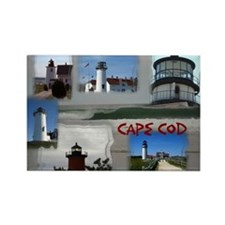 Lighthouse Collage - Cape Cod Rectangle Magnet