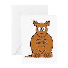 Cartoon Kangaroo Greeting Card