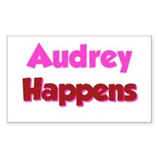 Audrey Happens Rectangle Decal
