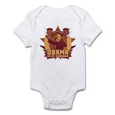 Barack Is My Comrade! Infant Bodysuit