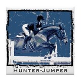 Hunter Jumper Horse Tile Coaster