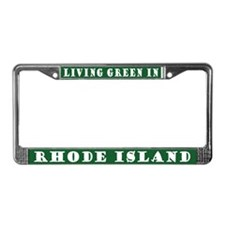 Living Green In Rhode Island License Frame