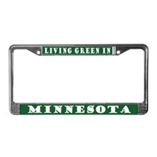 Living Green In Minnesota License Plate Frame