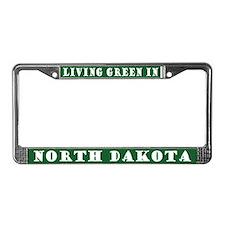 Living Green New Dakota License Plate Frame