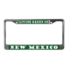 Living Green In New Mexico License Frame