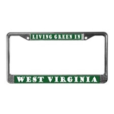 Living Green In West Virginia License Frame