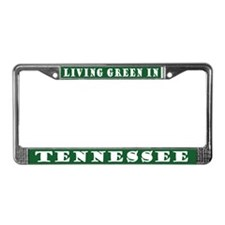 Living Green In Tennessee License Frame