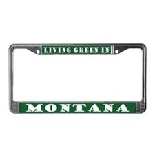 Living Green In Montana License Plate Frame