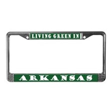 Eco Green Arkansas License Plate Frame