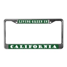 Green California License Plate Frame