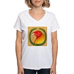 Wreath Gamecock Women's V-Neck T-Shirt