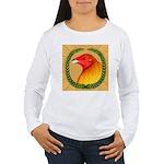 Wreath Gamecock Women's Long Sleeve T-Shirt