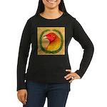 Wreath Gamecock Women's Long Sleeve Dark T-Shirt