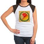 Wreath Gamecock Women's Cap Sleeve T-Shirt
