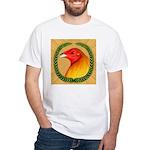 Wreath Gamecock White T-Shirt