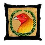 Wreath Gamecock Throw Pillow