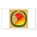 Wreath Gamecock Sticker (Rectangle)