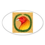 Wreath Gamecock Sticker (Oval 50 pk)