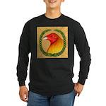 Wreath Gamecock Long Sleeve Dark T-Shirt