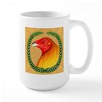 Wreath Gamecock Large Mug