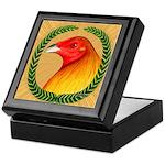 Wreath Gamecock Keepsake Box