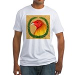 Wreath Gamecock Fitted T-Shirt