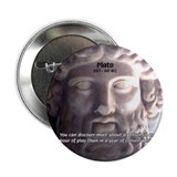 Plato: Wisdom Knowledge Play 2.25&quot; Button (10 pack