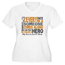 HERO Comes Along 1 Son LEUKEMIA T-Shirt