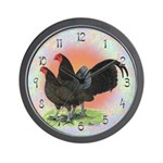 Chocolate OE Game Bantams Wall Clock
