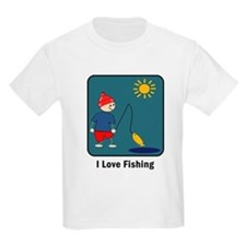 I Love Fishing Kids T-Shirt