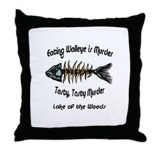 Eating Walleye is Murder Throw Pillow