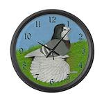 Opal English Trumpeter Large Wall Clock