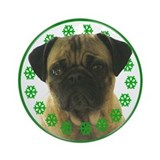 Pug Hugs Ornament (Round)