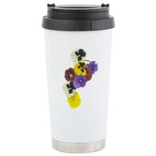 Pansies Ceramic Travel Mug