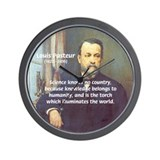Louis Pasteur: Science Humanity Wall Clock