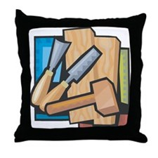 Carving Throw Pillow
