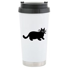 Black Cat Ceramic Travel Mug