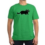 Black Cat Men's Fitted T-Shirt (dark)