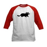 Black Cat Kids Baseball Jersey