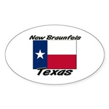 New Braunfels Texas Oval Decal