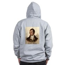 Robert Burns Portrait Zip Hoodie
