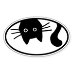 Whiskers the Cat Oval Sticker (50 pk)