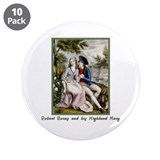"Robert Burns & Highland Mary 3.5"" Button (10 pack)"