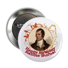 "Happy Birthday Rabbie Burns 2.25"" Button (100 pack"