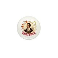 Happy Birthday Rabbie Burns Mini Button (10 pack)