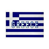 Greece Flag Labeled Rectangle Magnet (10 pack)
